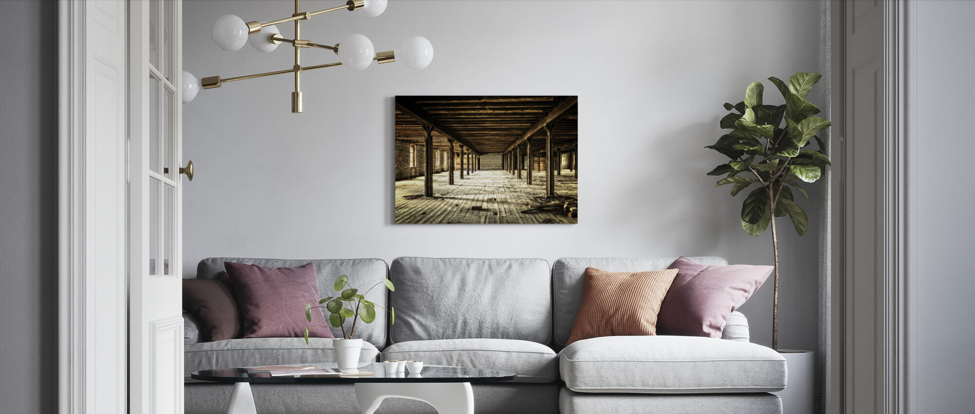 Abandoned Catacombs - Canvas print - Living Room