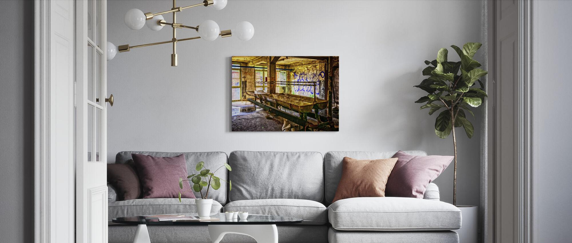 Old Washroom - Canvas print - Living Room