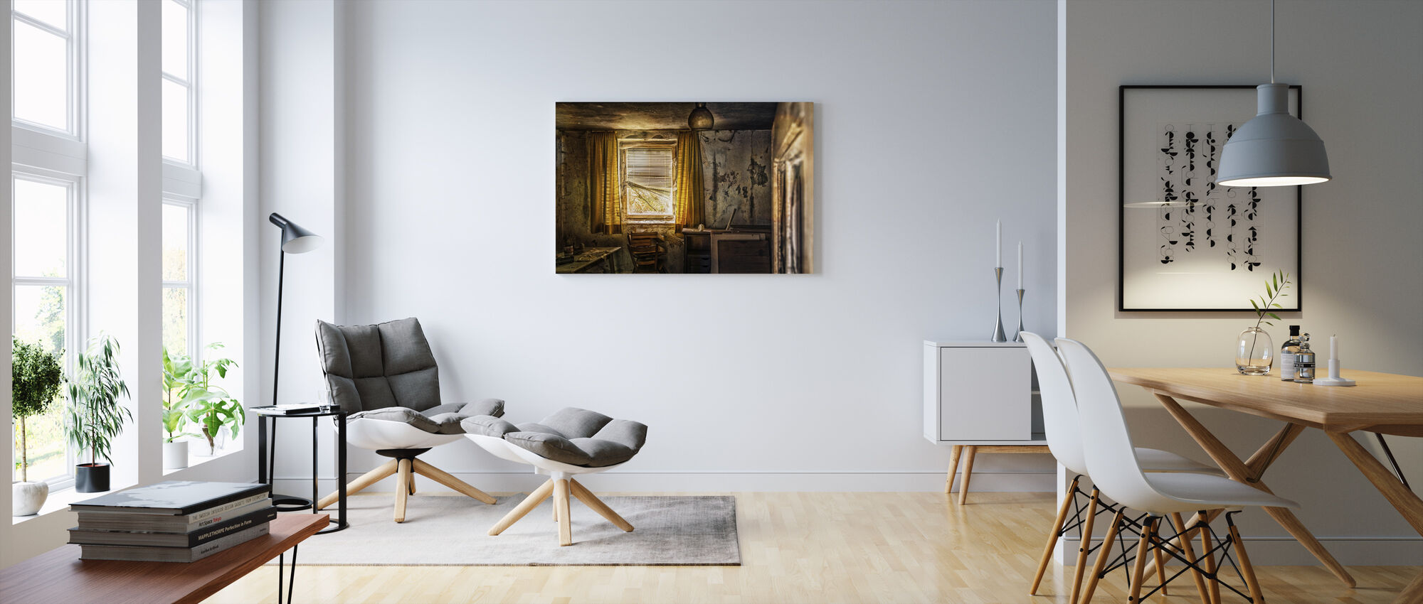 Abandoned Room - Canvas print - Living Room