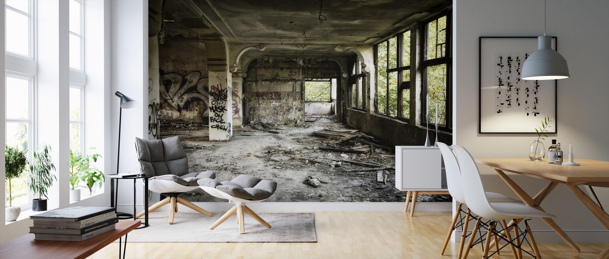 Ruinierte Villa - Tapete - Wohnzimmer