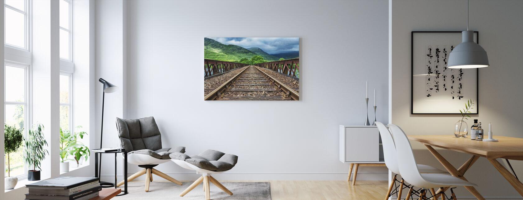 Railway Bridge Tracks - Canvas print - Living Room