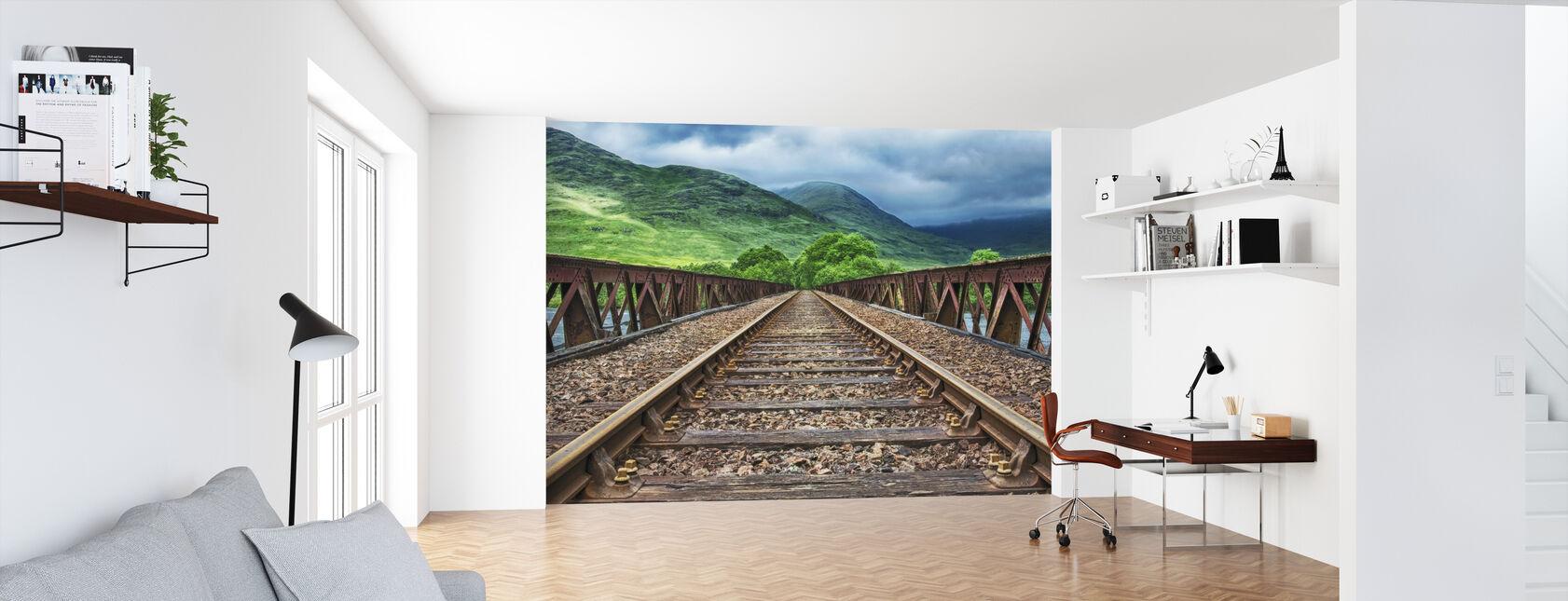 Jernbanebro spor - Tapet - Kontor