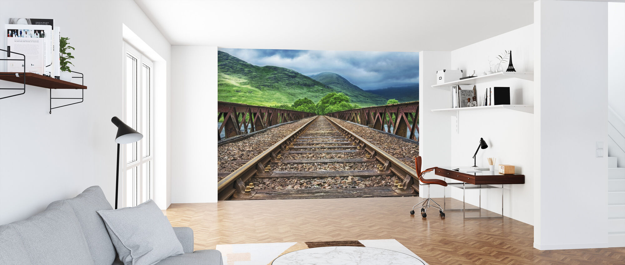 Railway Bridge Tracks - Wallpaper - Office