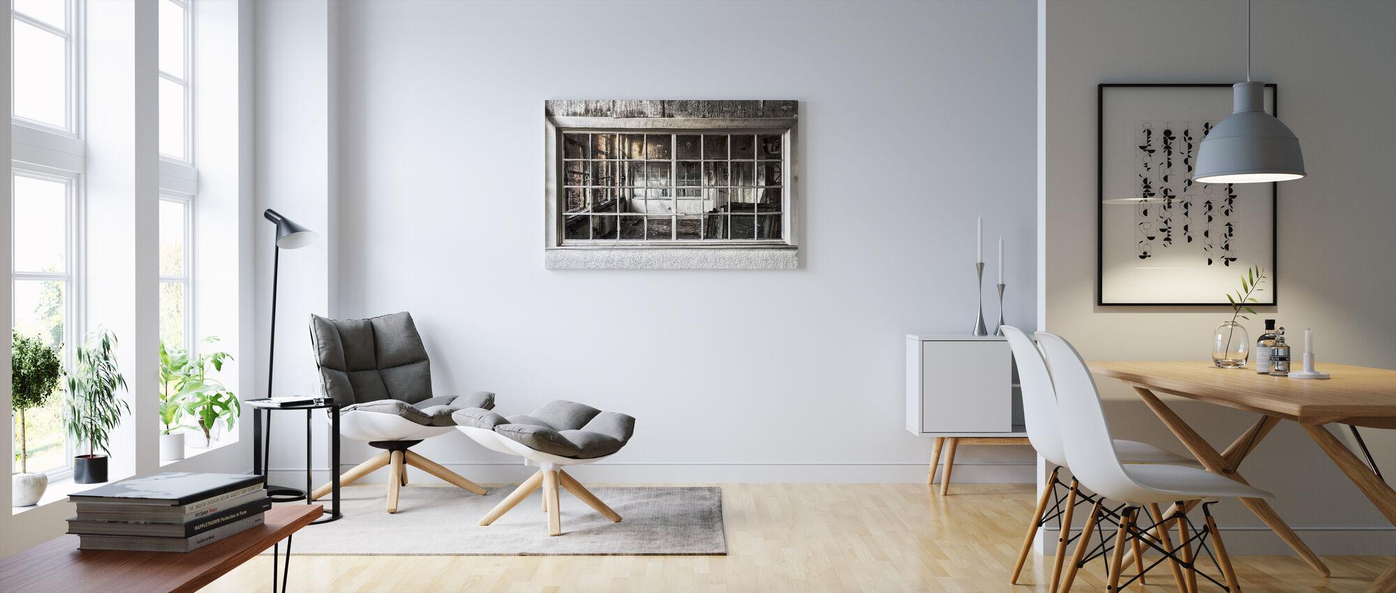Broken Old Window - Canvas print - Living Room