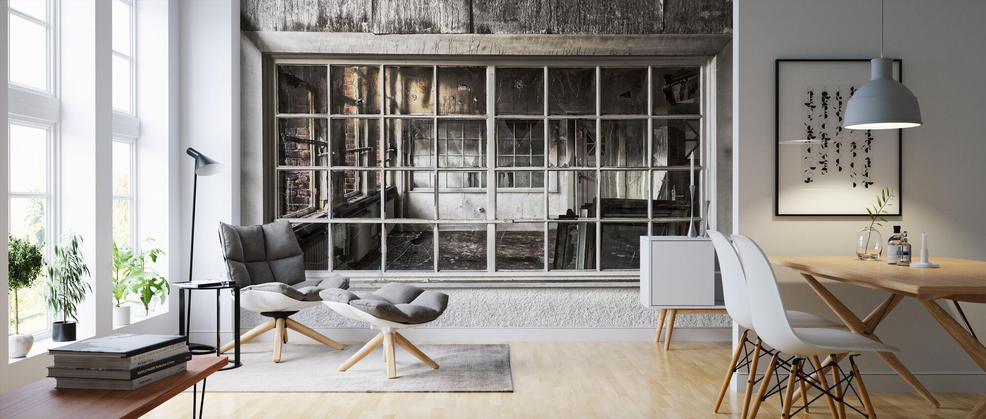 Broken Old Window - Wallpaper - Living Room