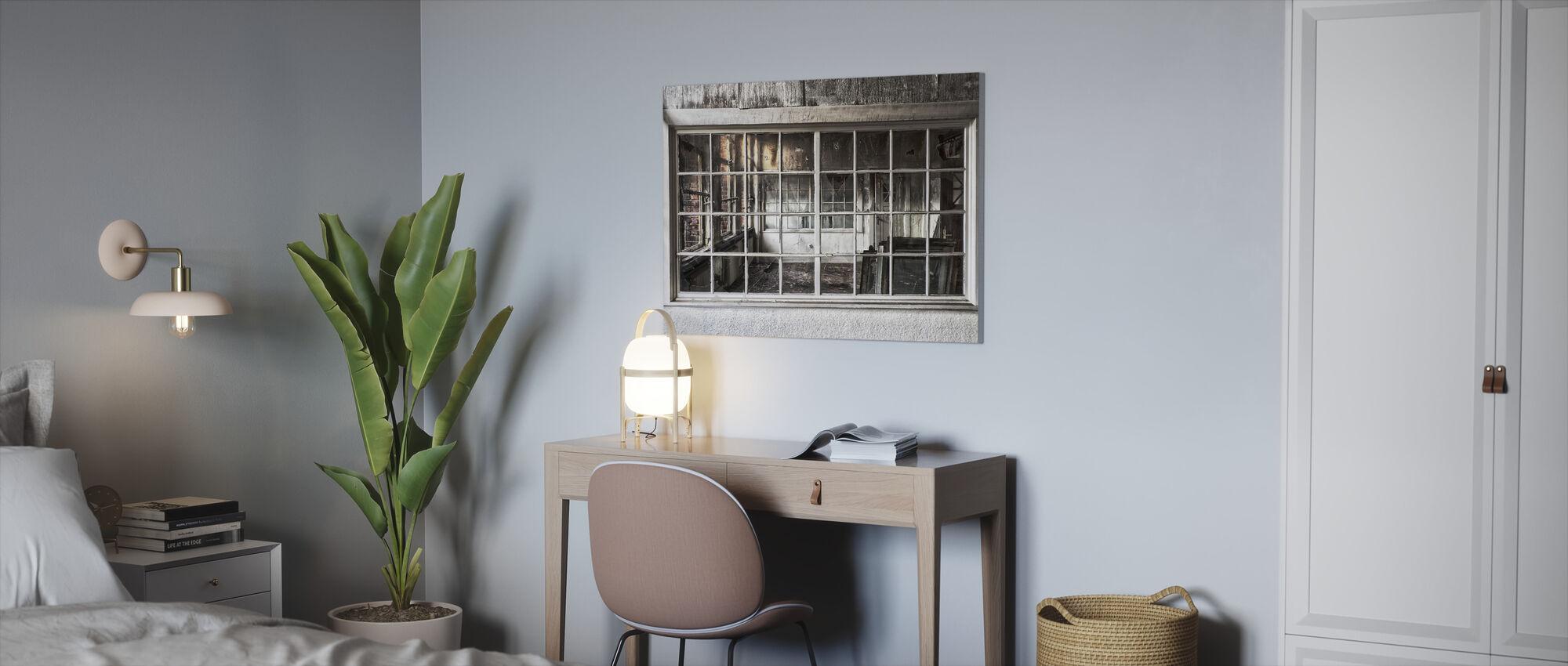 Broken Old Window - Canvas print - Office