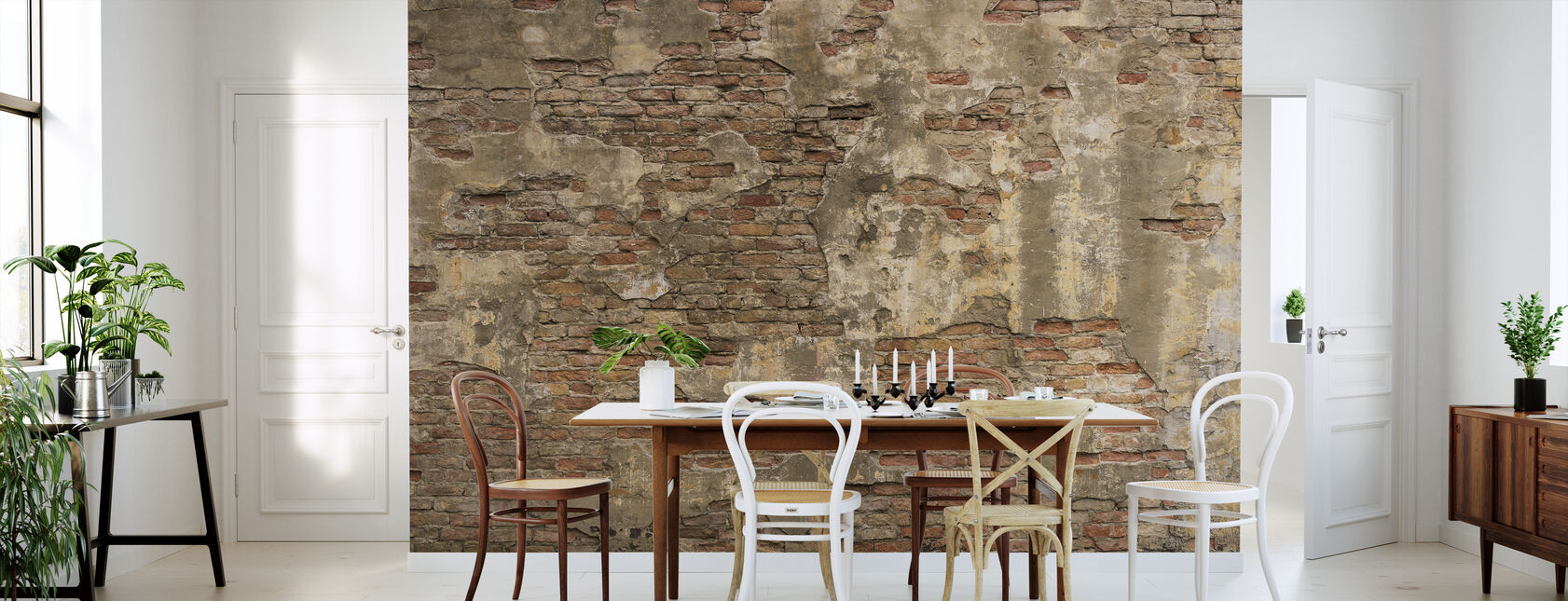 Old Stone Wall - Wallpaper - Kitchen