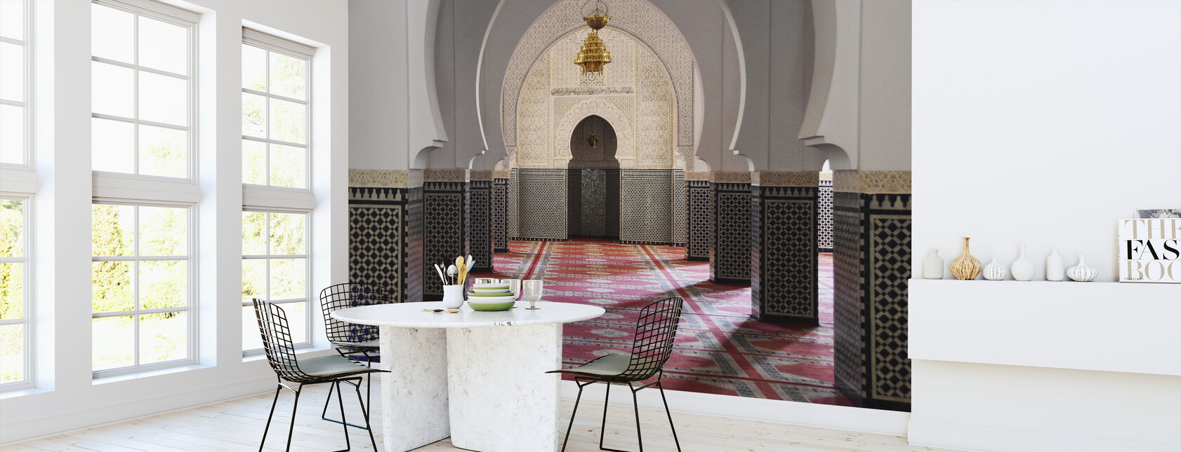 Berber Mosaic Mosque - Wallpaper - Kitchen