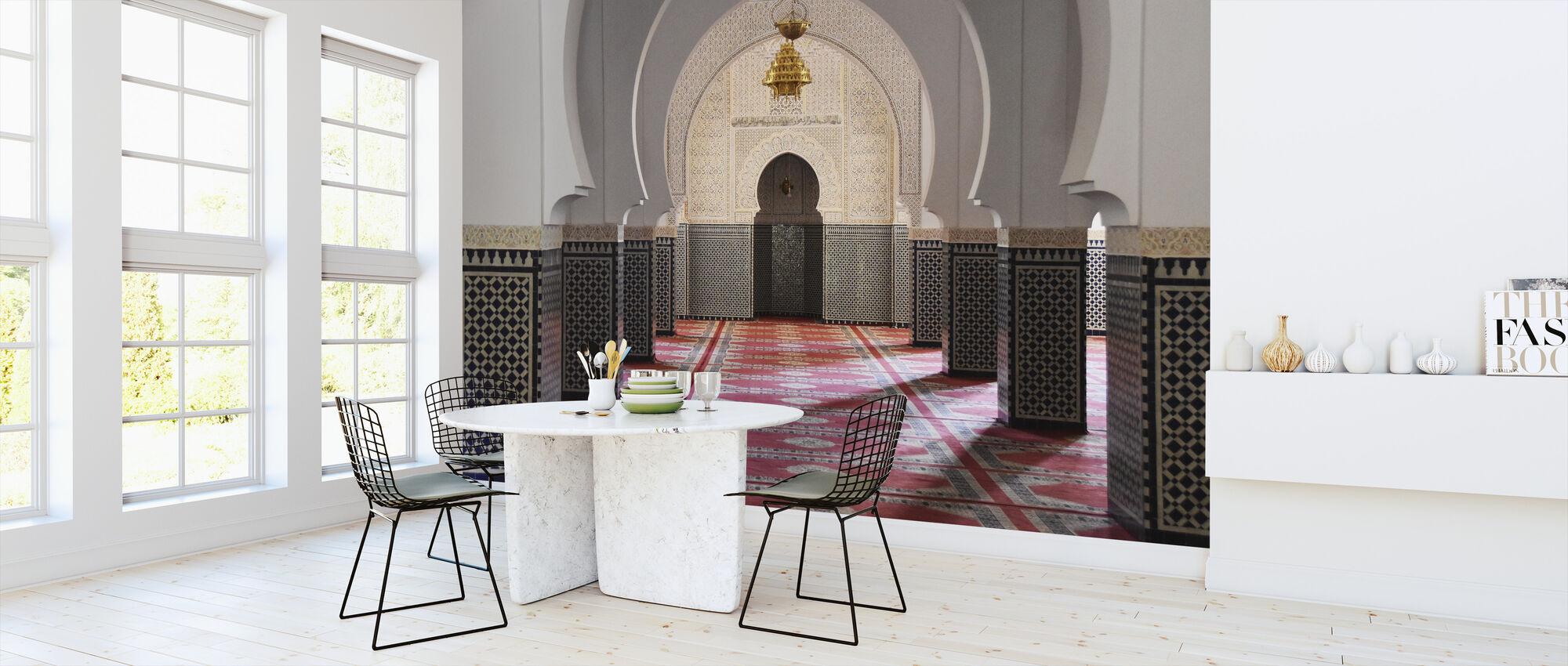 Berber Mosaic Mosque - Wallpaper - Kitchen