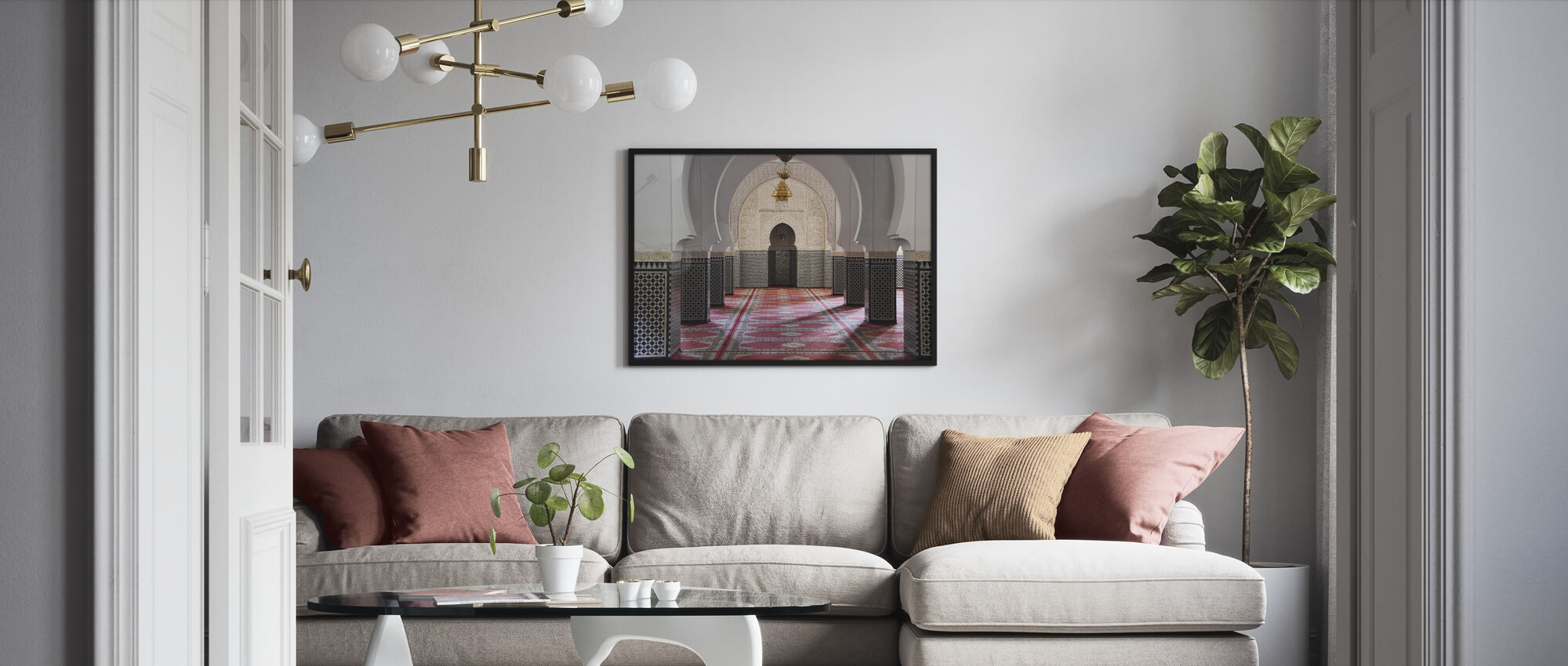 Berber Mosaic Mosque - Framed print - Living Room