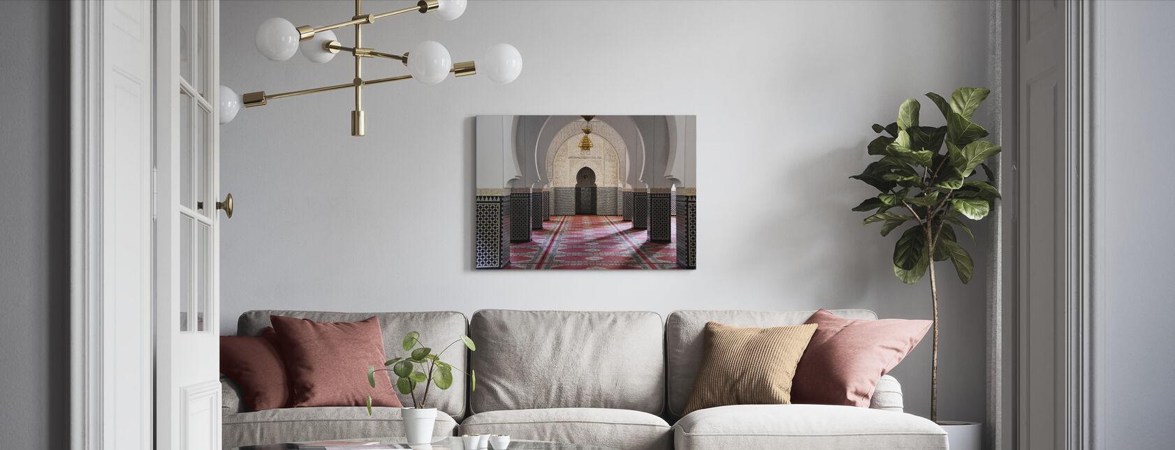 Berber Mosaic Mosque - Canvas print - Living Room