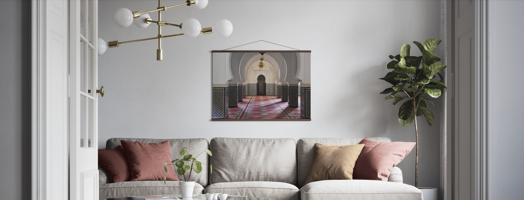 Berber Mosaic Mosque - Poster - Living Room