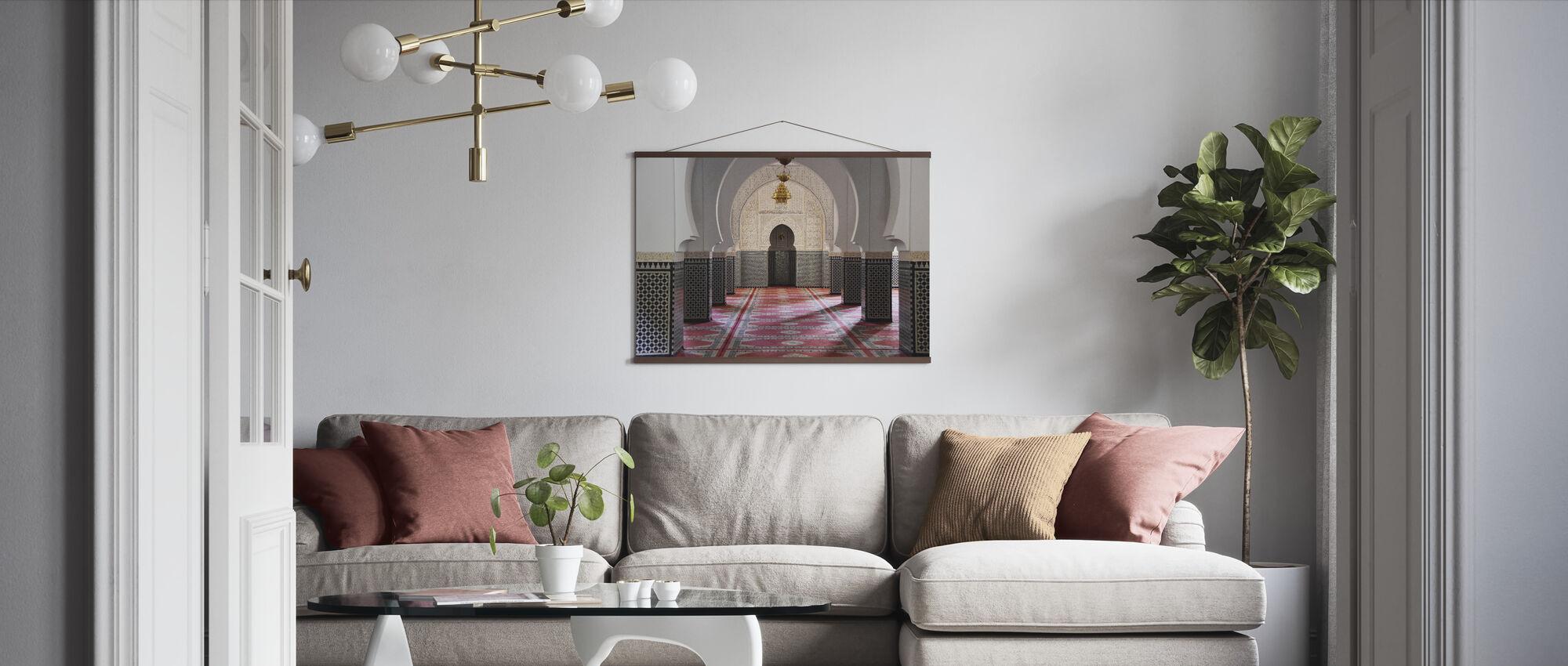 Berber Mosaic Mosque - Poster - Living Room