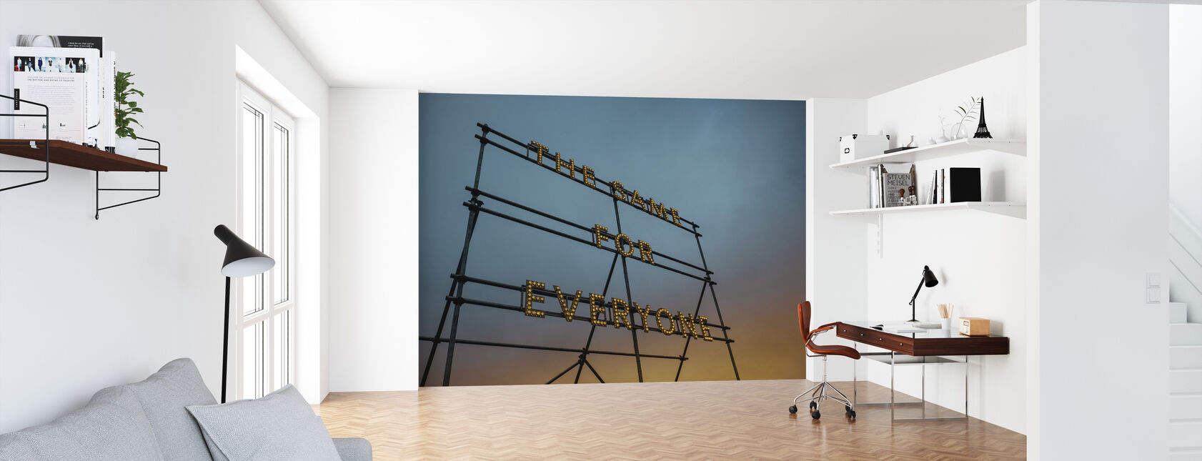 Typography Art Lights - Wallpaper - Office