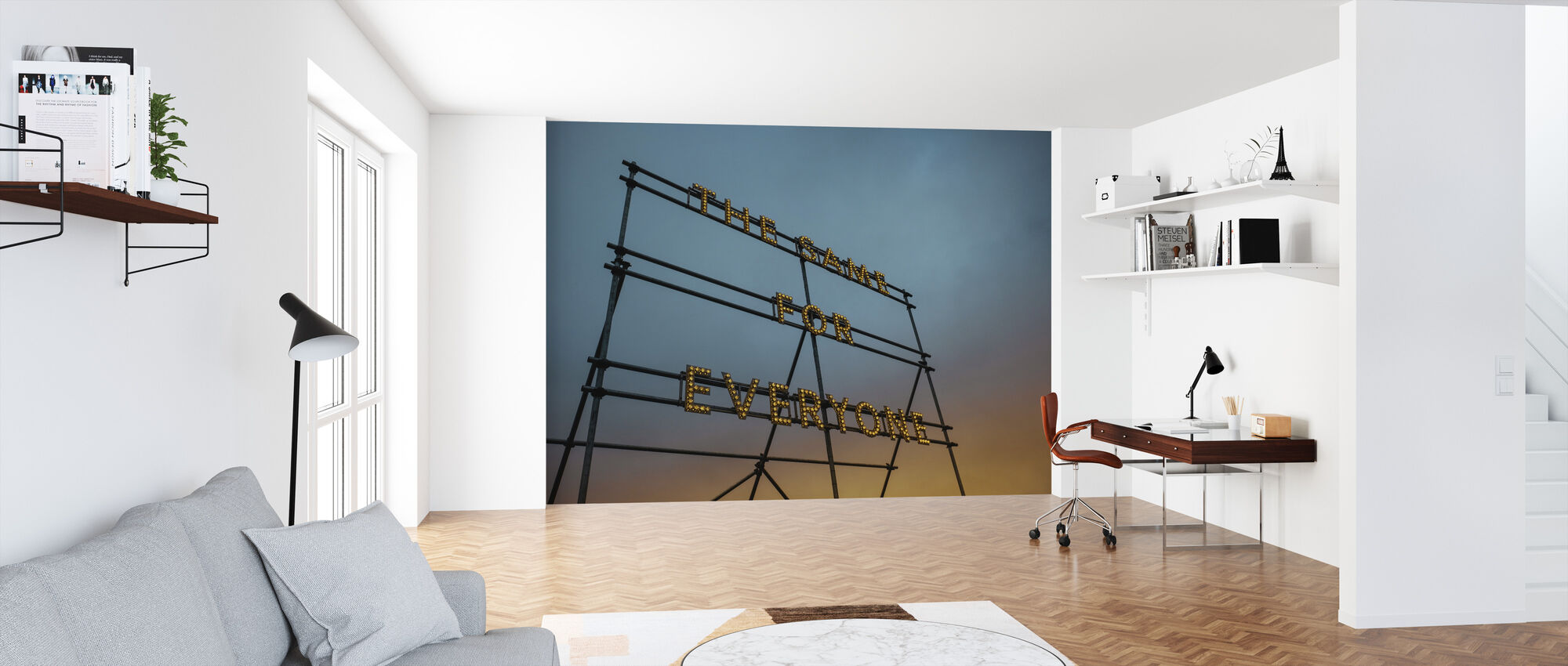 Typografie Art Lights - Behang - Kantoor