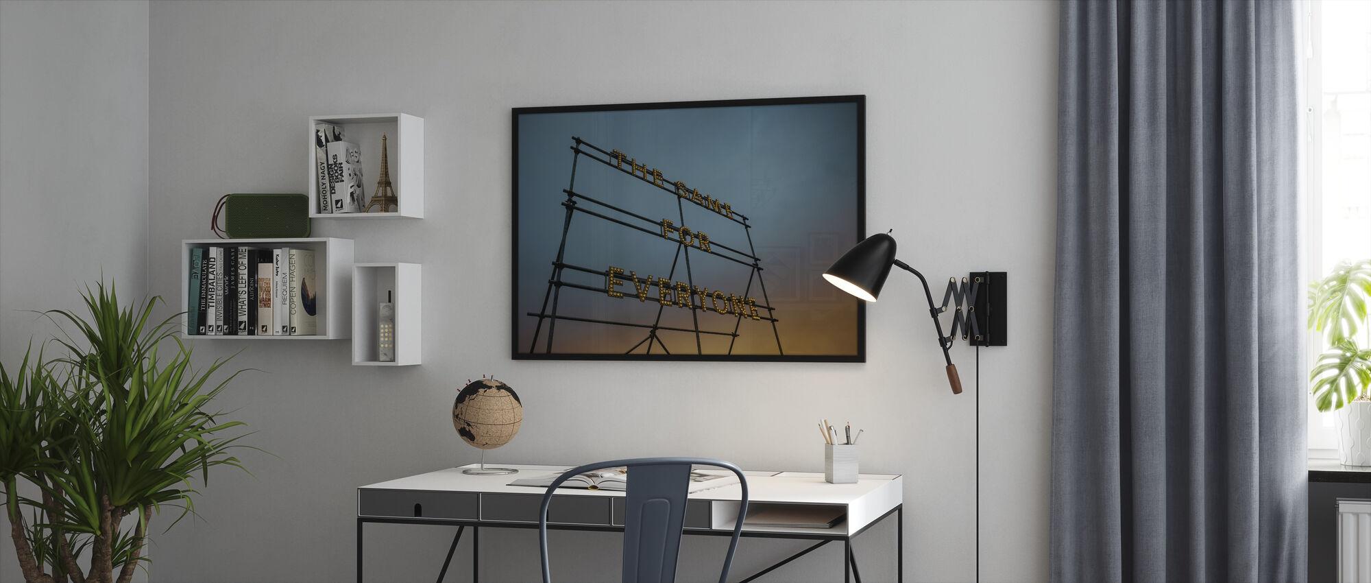 Typography Art Lights - Framed print - Office