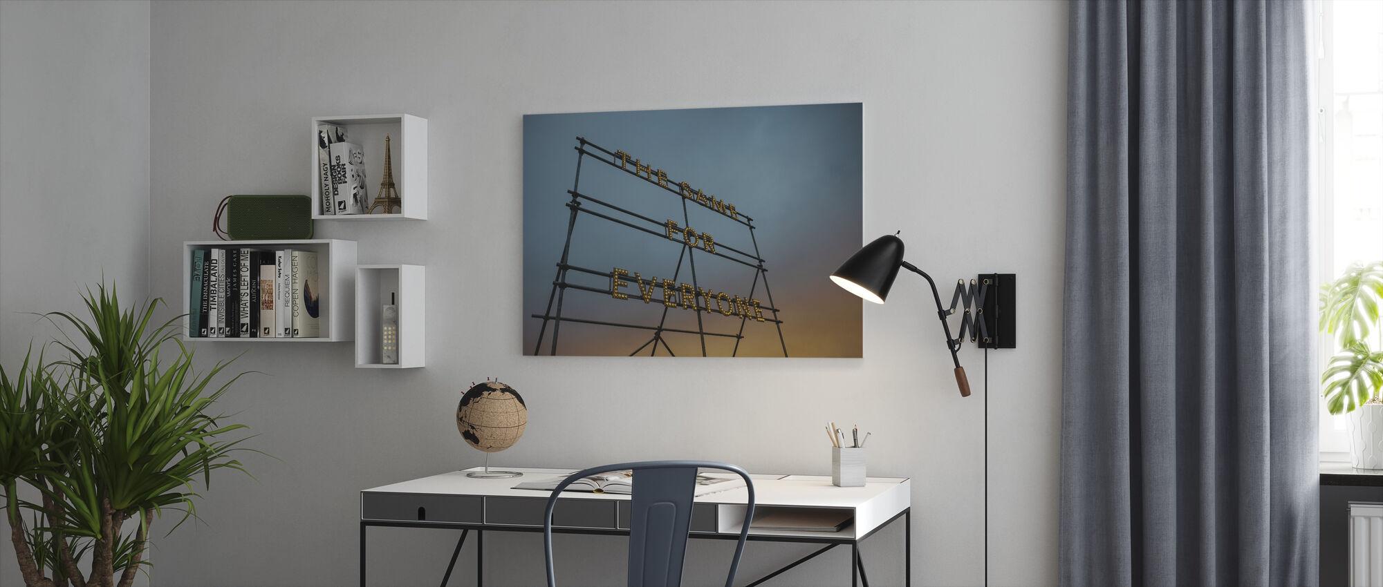 Typography Art Lights - Canvas print - Office