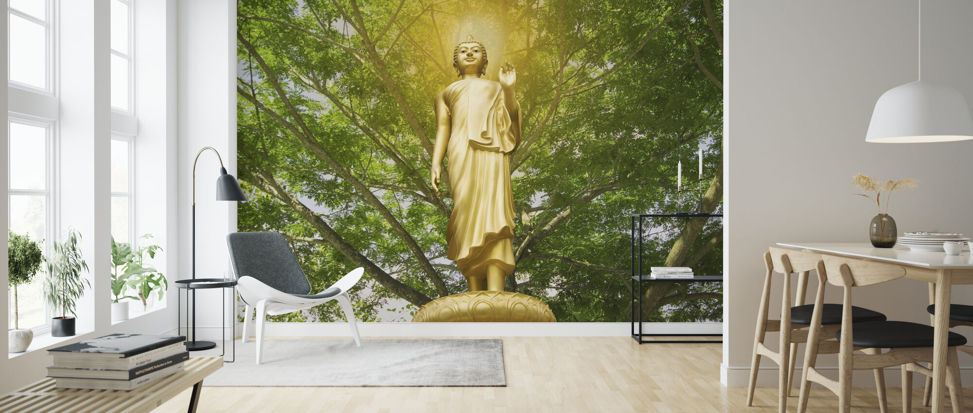 Statue of Buddha - Wallpaper - Living Room