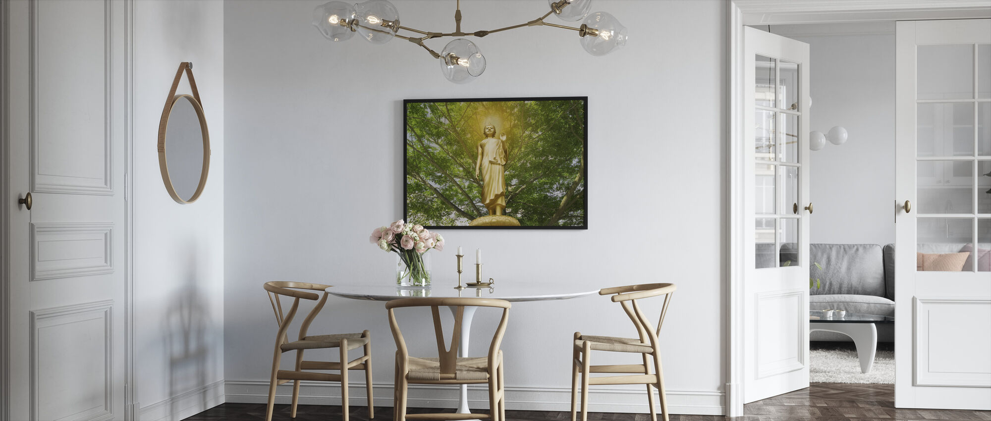 Statue of Buddha - Framed print - Kitchen