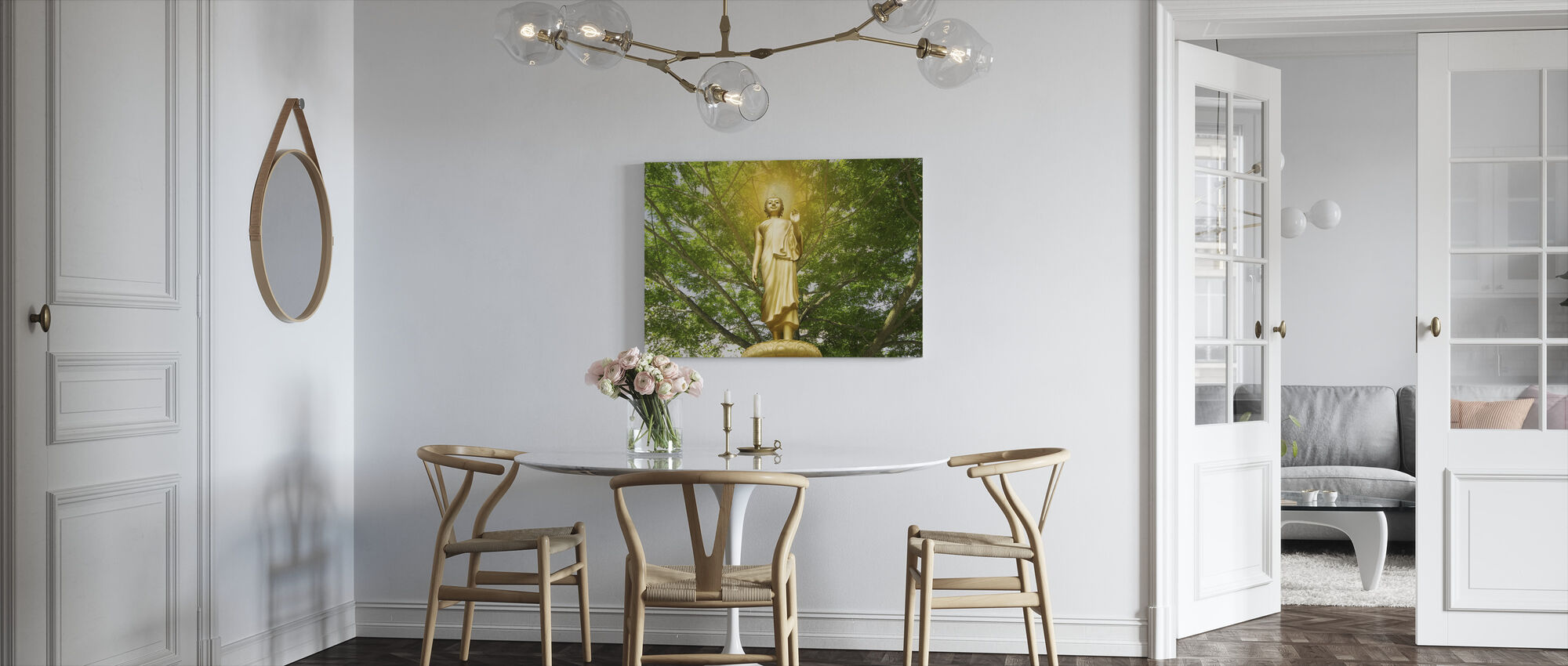 Statue of Buddha - Canvas print - Kitchen