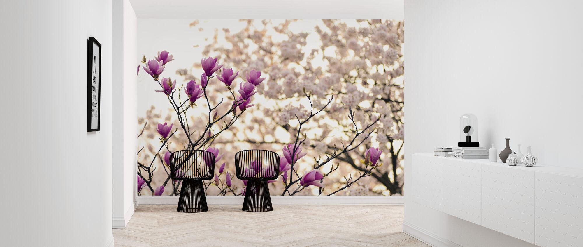 Magnolia Blomster - Tapet - Gang
