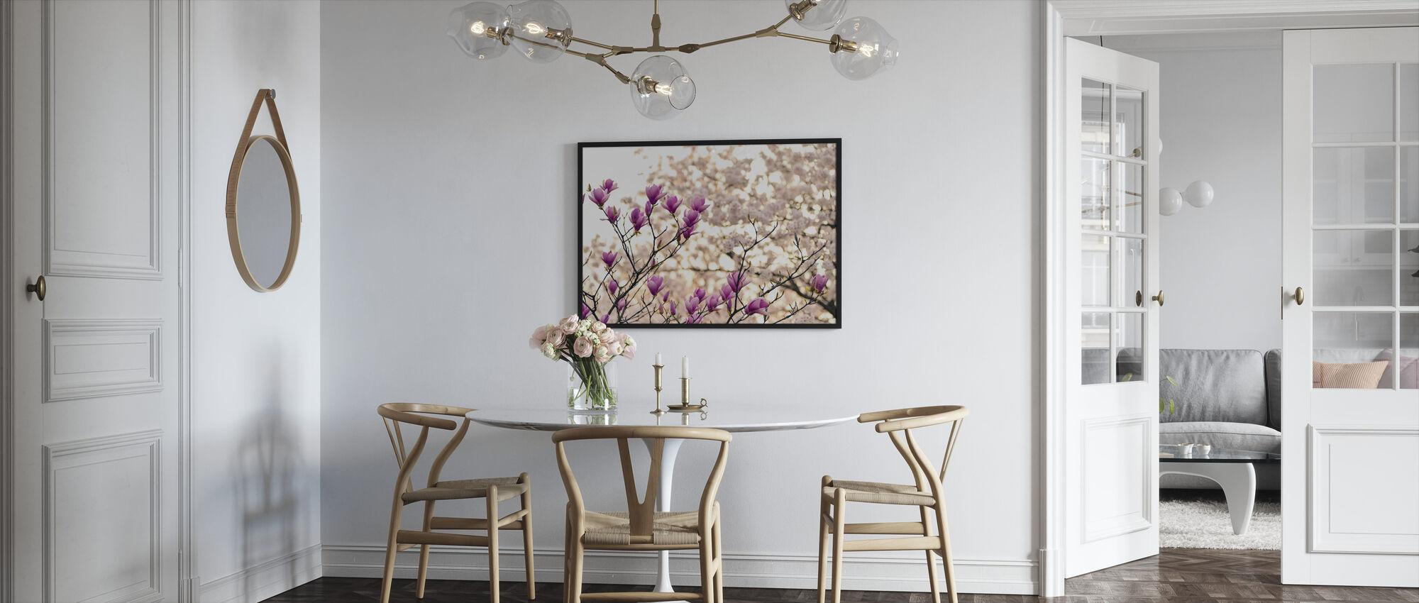 Magnolia Flowers - Framed print - Kitchen