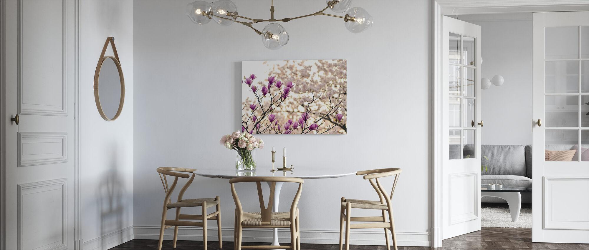 Magnolie Blumen - Leinwandbild - Küchen