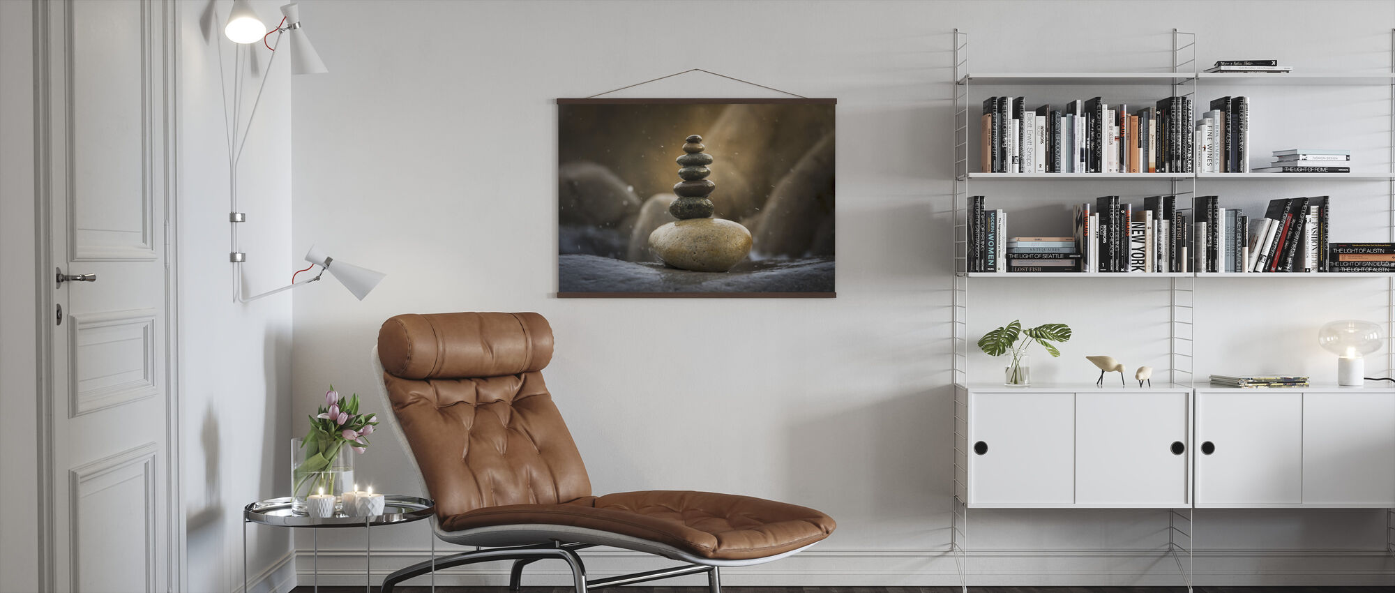 Balanced Stacked Stones - Poster - Living Room
