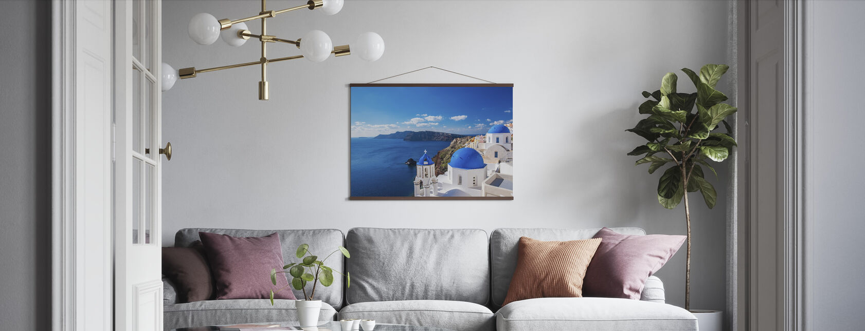 Santorini Church - Poster - Living Room