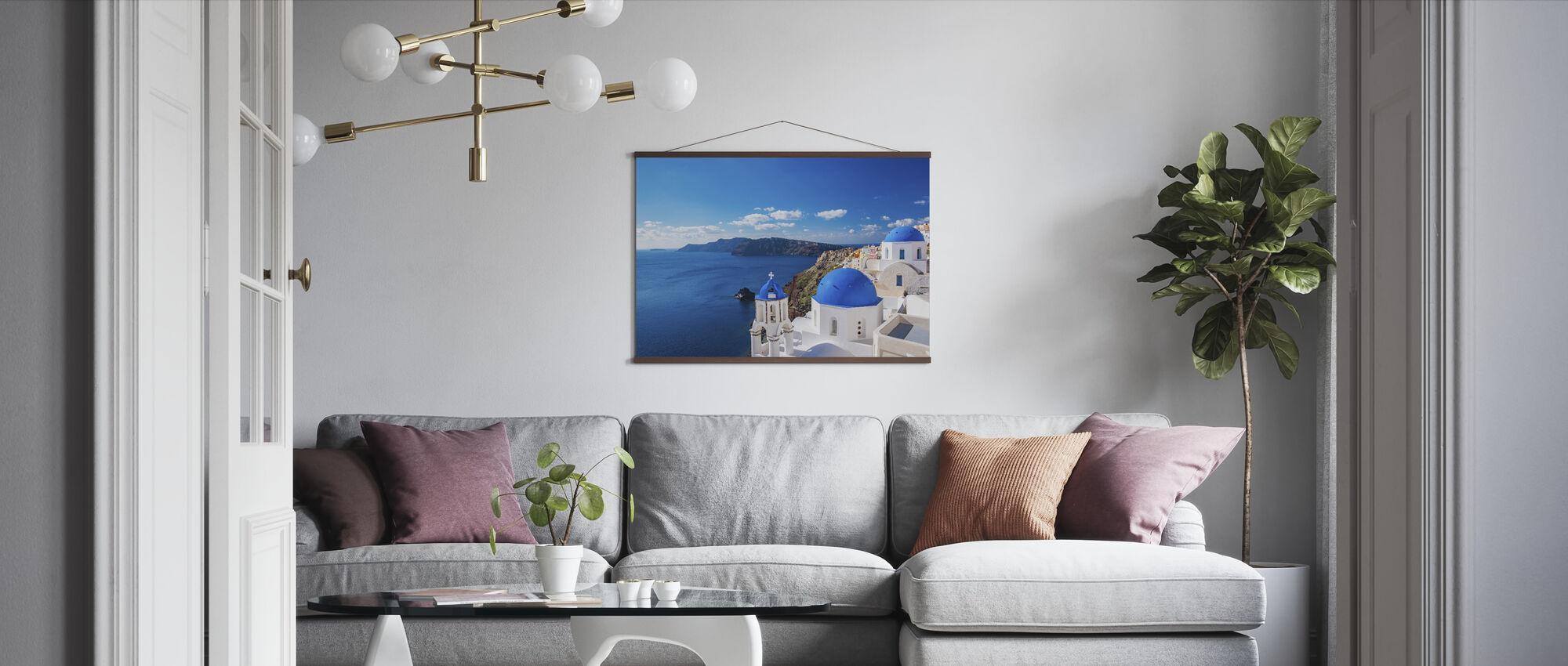 Santorini Church - Poster - Living Room