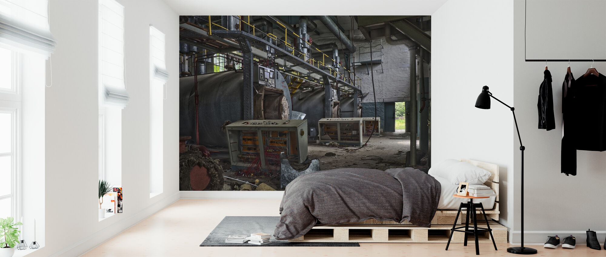 Abandoned Boiler Room - Wallpaper - Bedroom