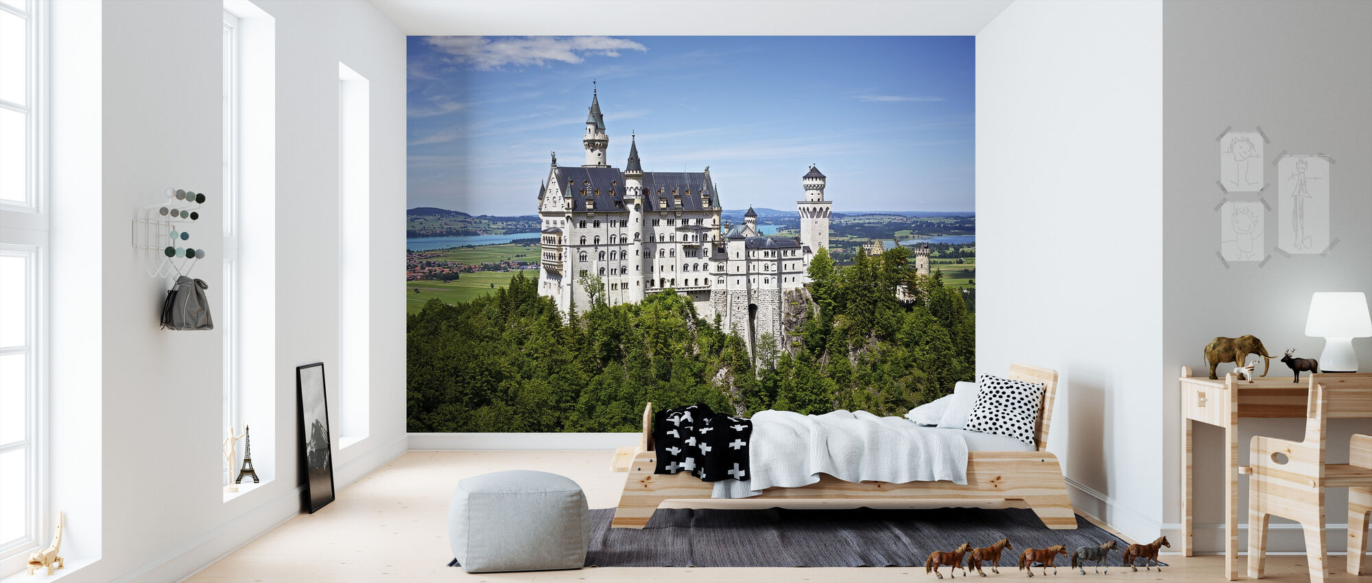 Neuschwanstein Disney Castle - Wallpaper - Kids Room