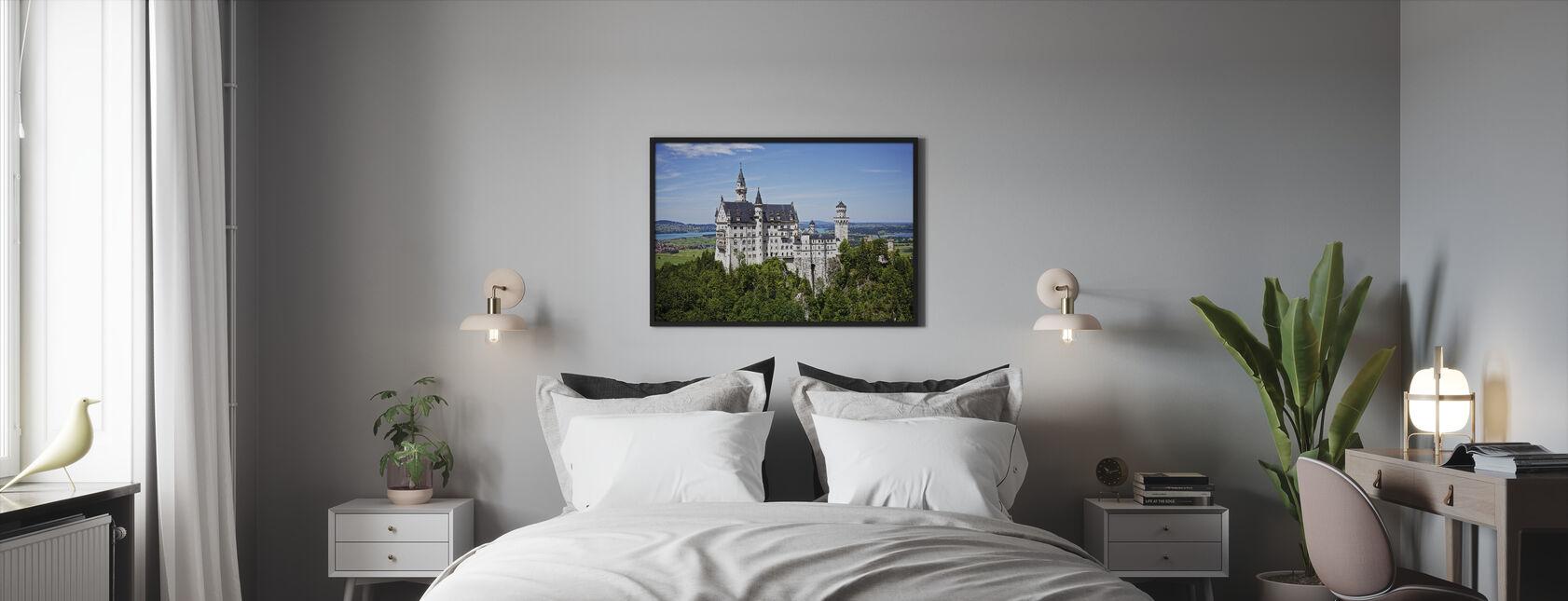 Neuschwanstein Disney Castle - Framed print - Bedroom