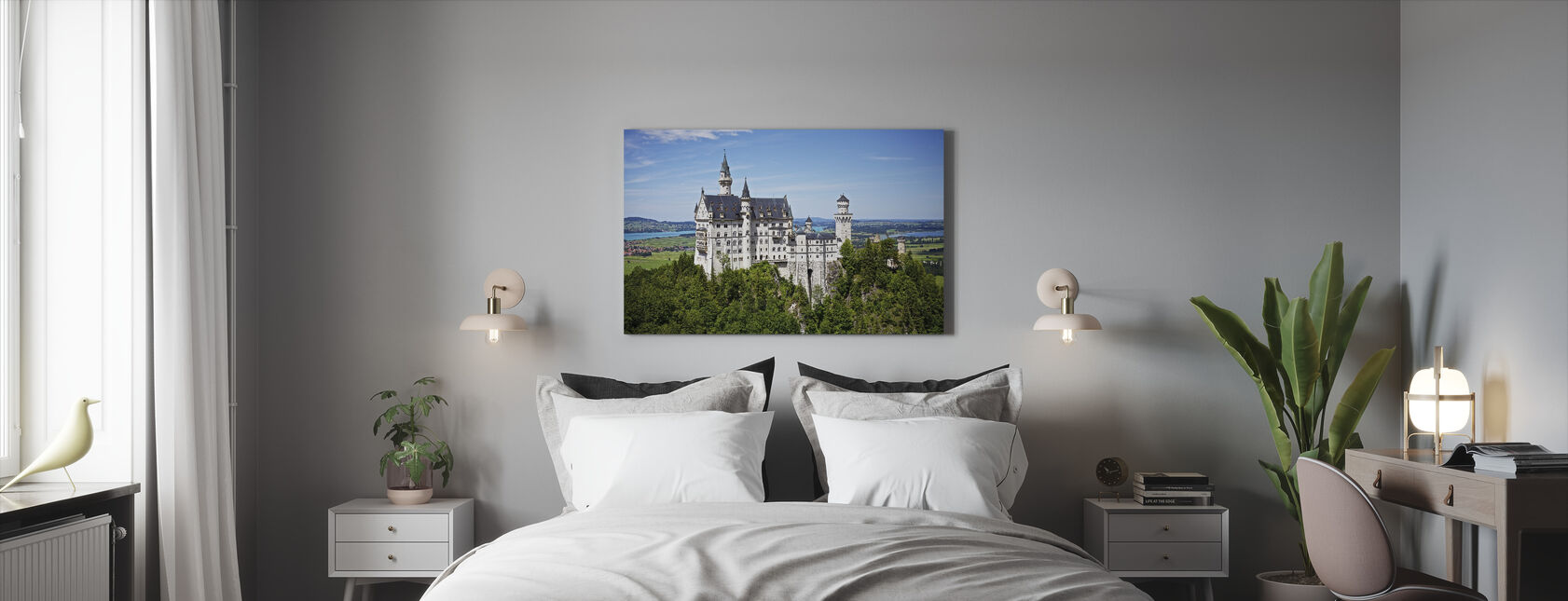 Neuschwanstein Disney Castle - Canvas print - Bedroom