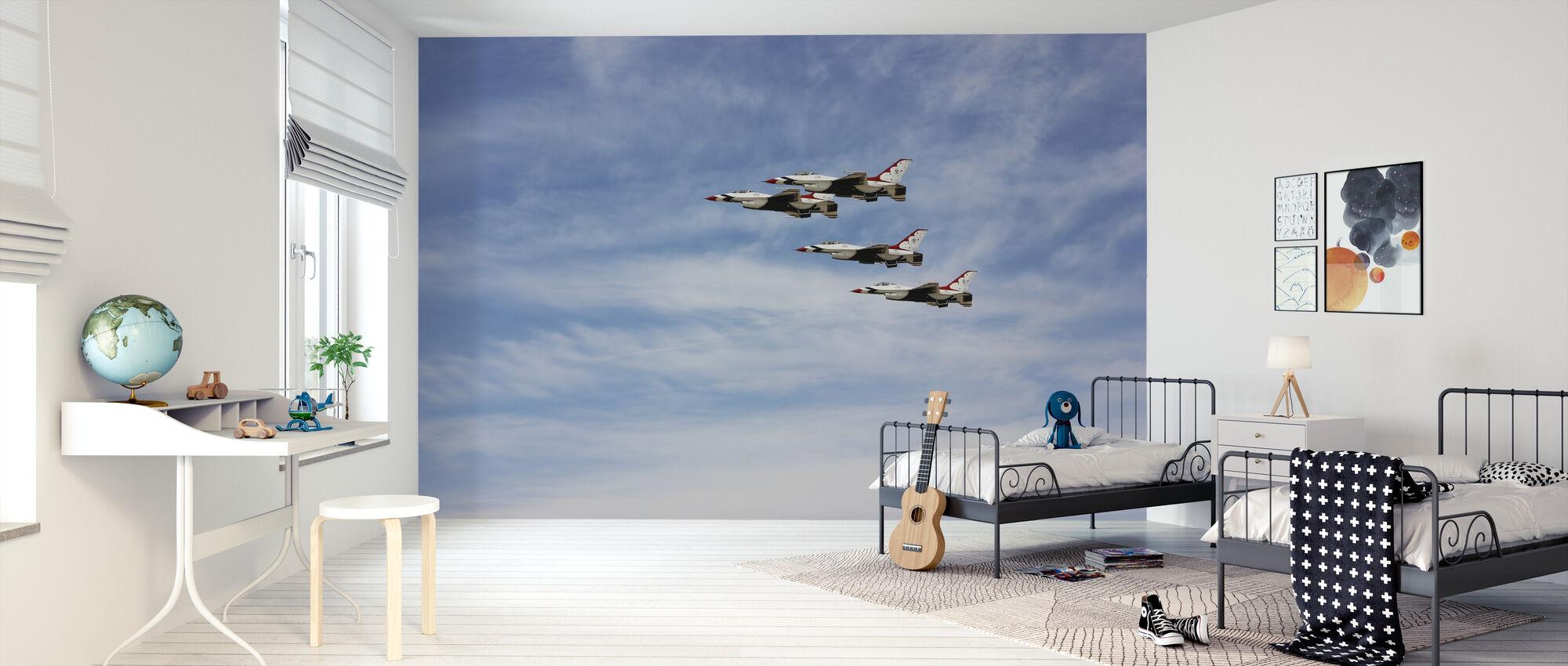 Jet Fighter Formation - Wallpaper - Kids Room
