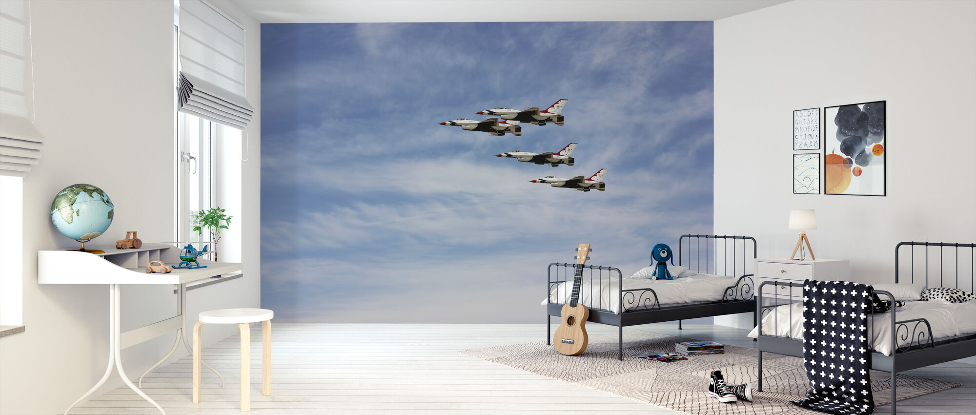 Jet Fighter Formation - Tapet - Barnrum