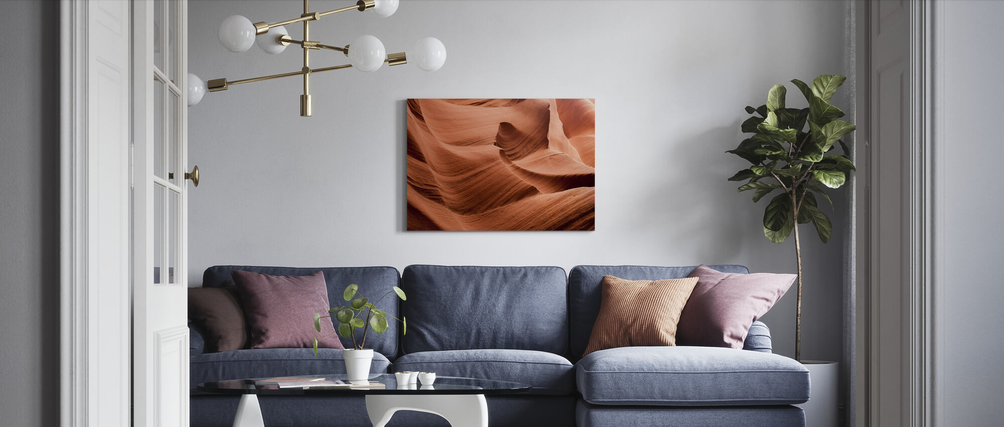 Antilope Canyon - Canvas print - Woonkamer
