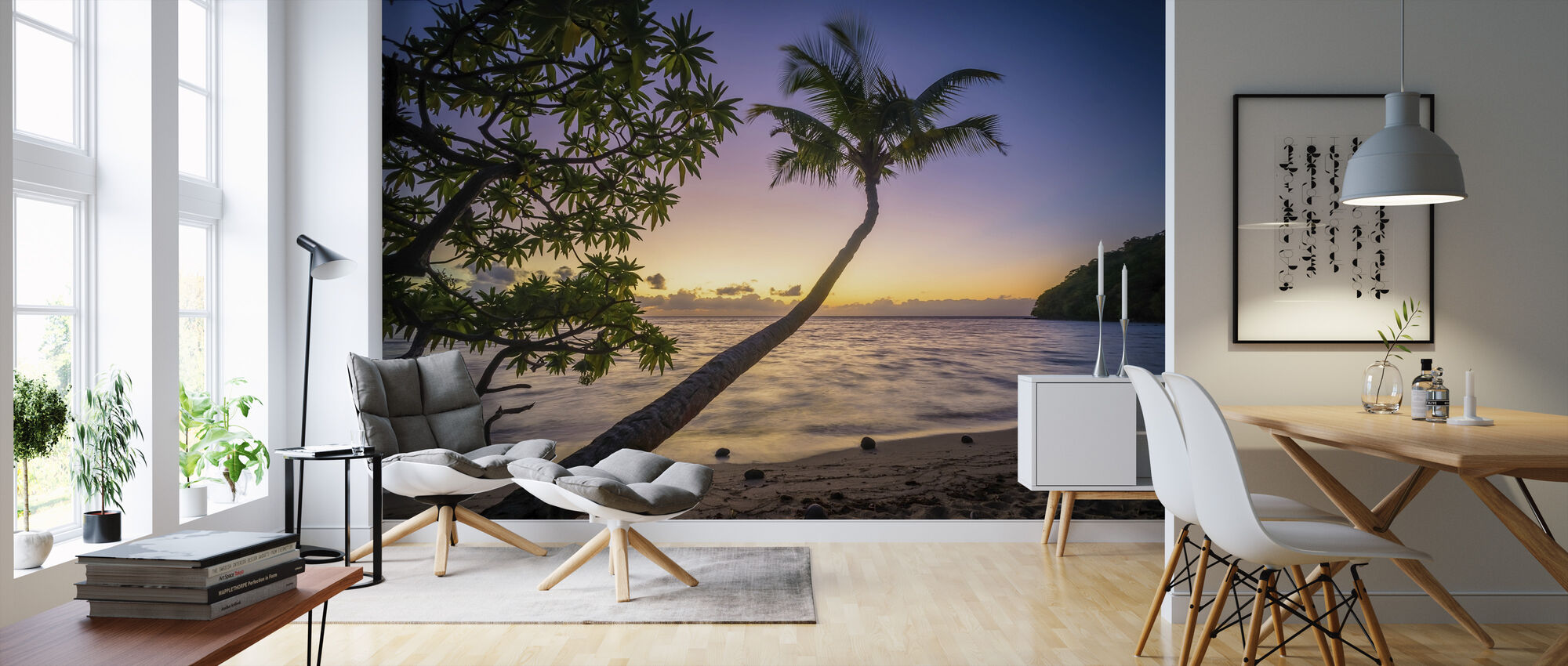 Sunset Beach - Wallpaper - Living Room
