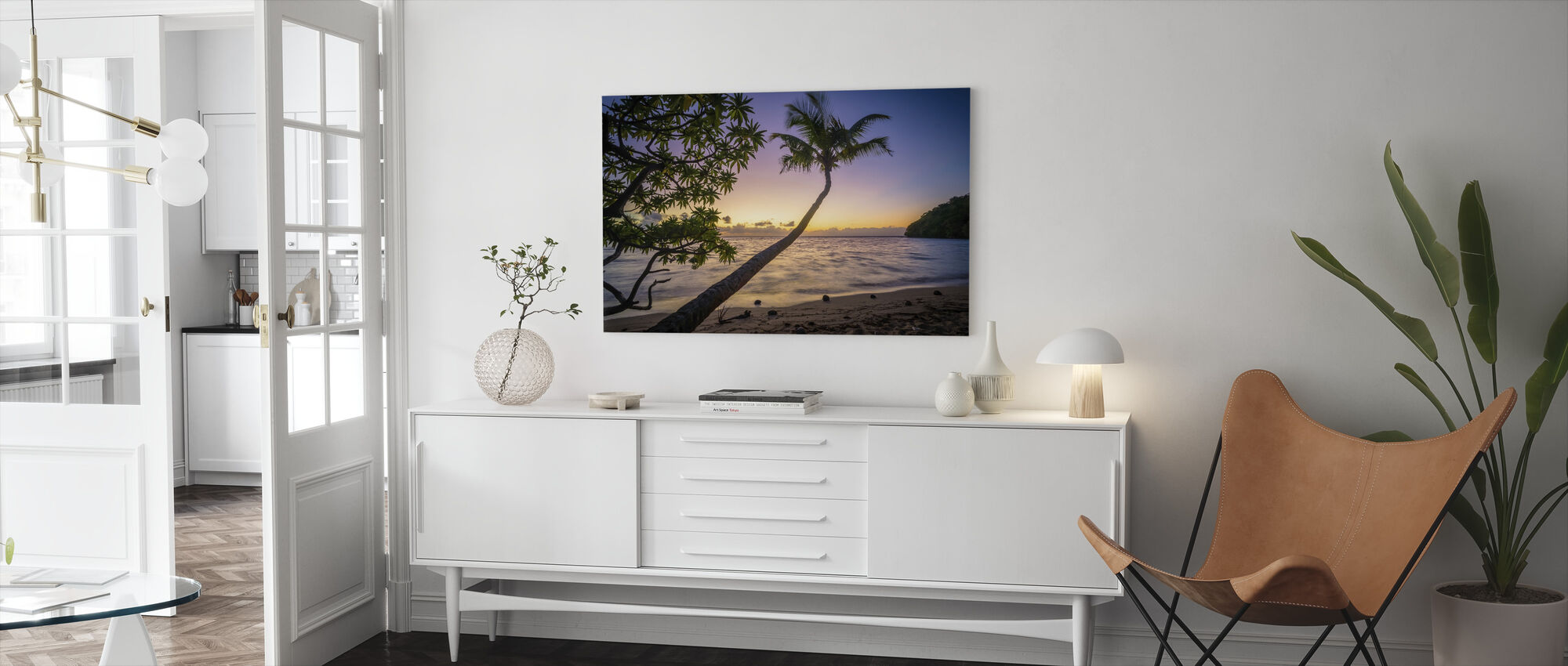 Sunset Beach - Canvas print - Living Room