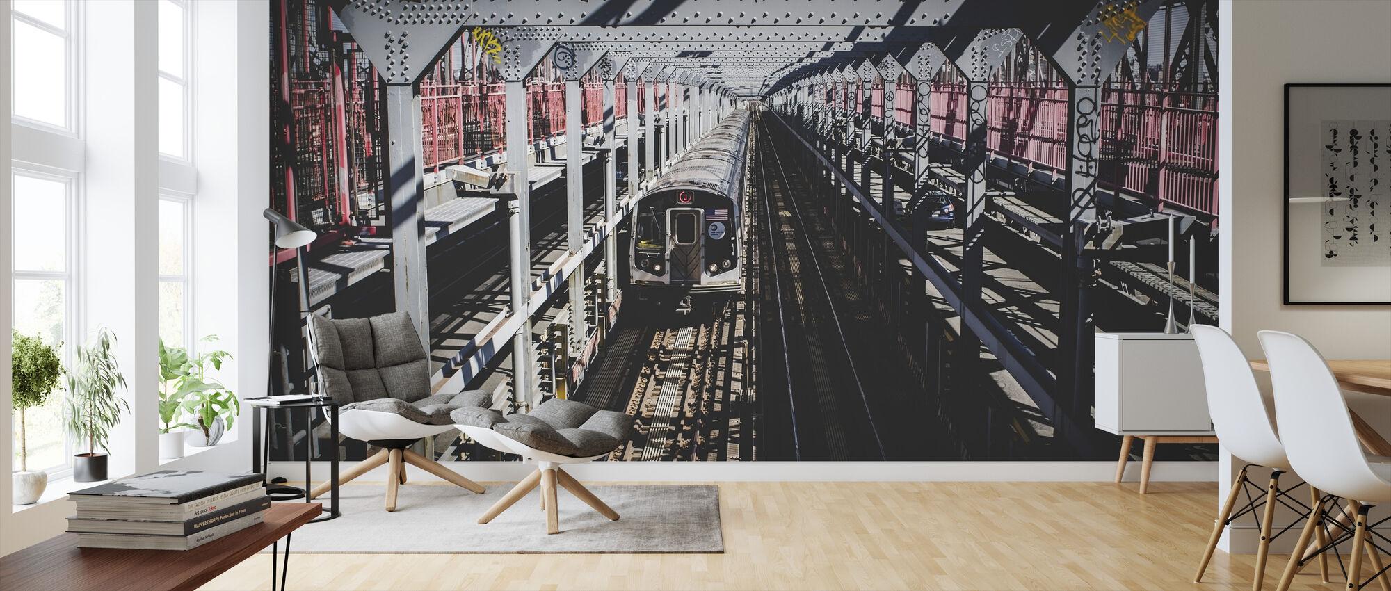 Transport af tog - Tapet - Stue