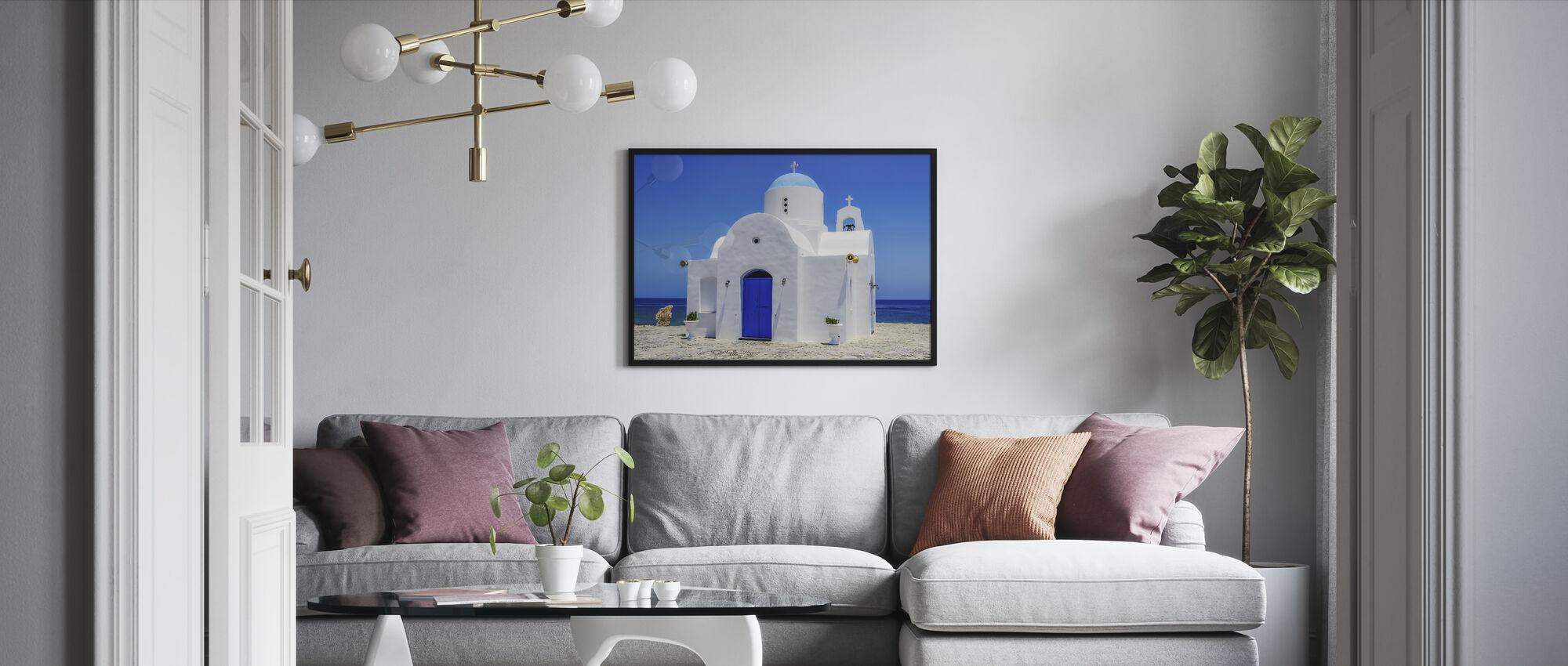 Protaras Church - Framed print - Living Room