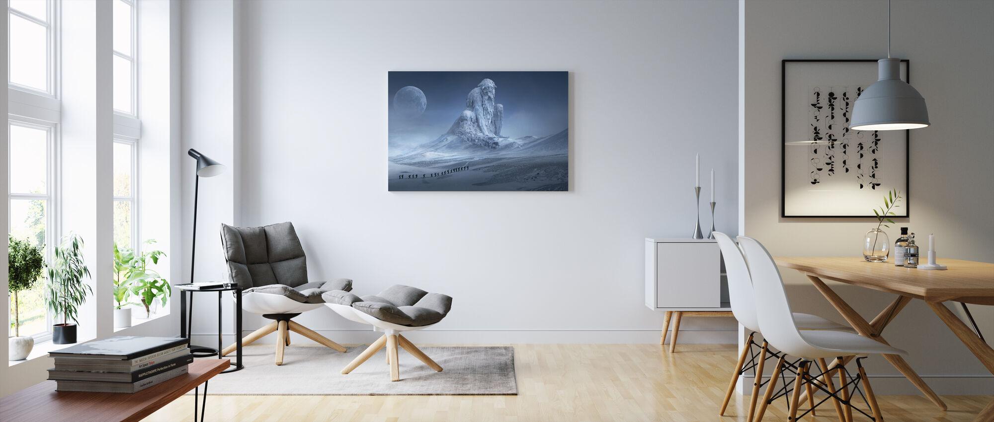Fantasy Snow Landscape - Canvas print - Living Room