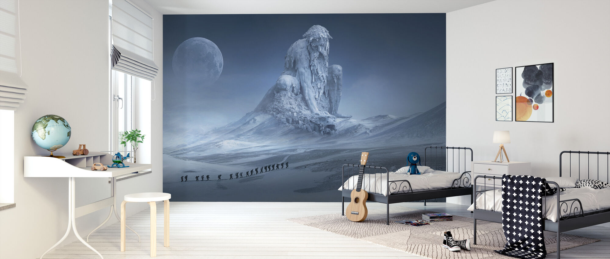 Fantasy Snö Landskap - Tapet - Barnrum