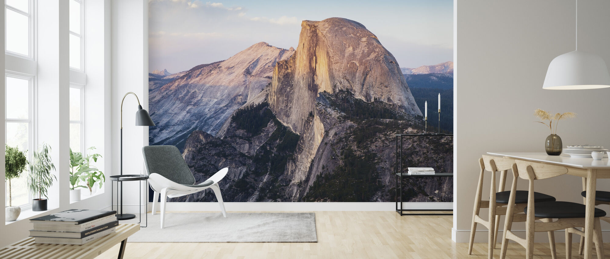 Half Dome Mountain - Wallpaper - Living Room