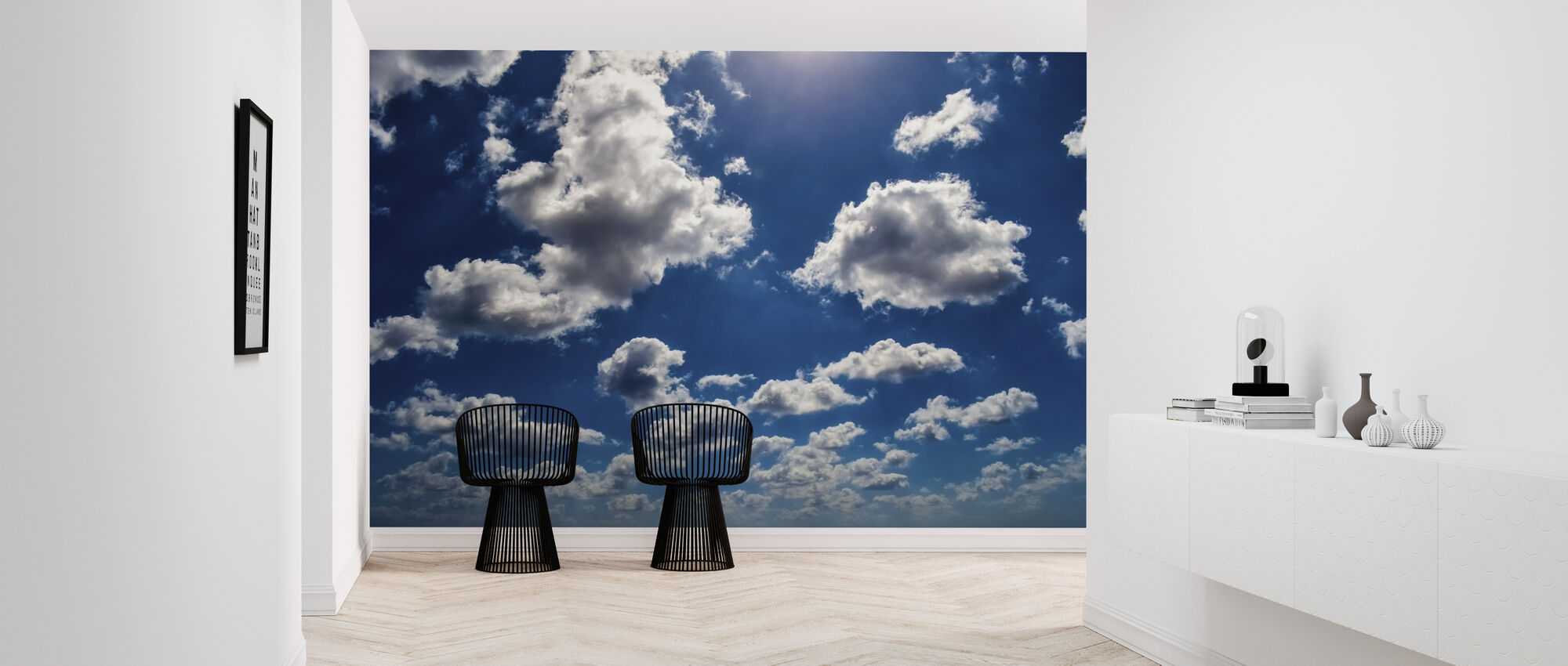 Blue Sky Clouds - Wallpaper - Hallway