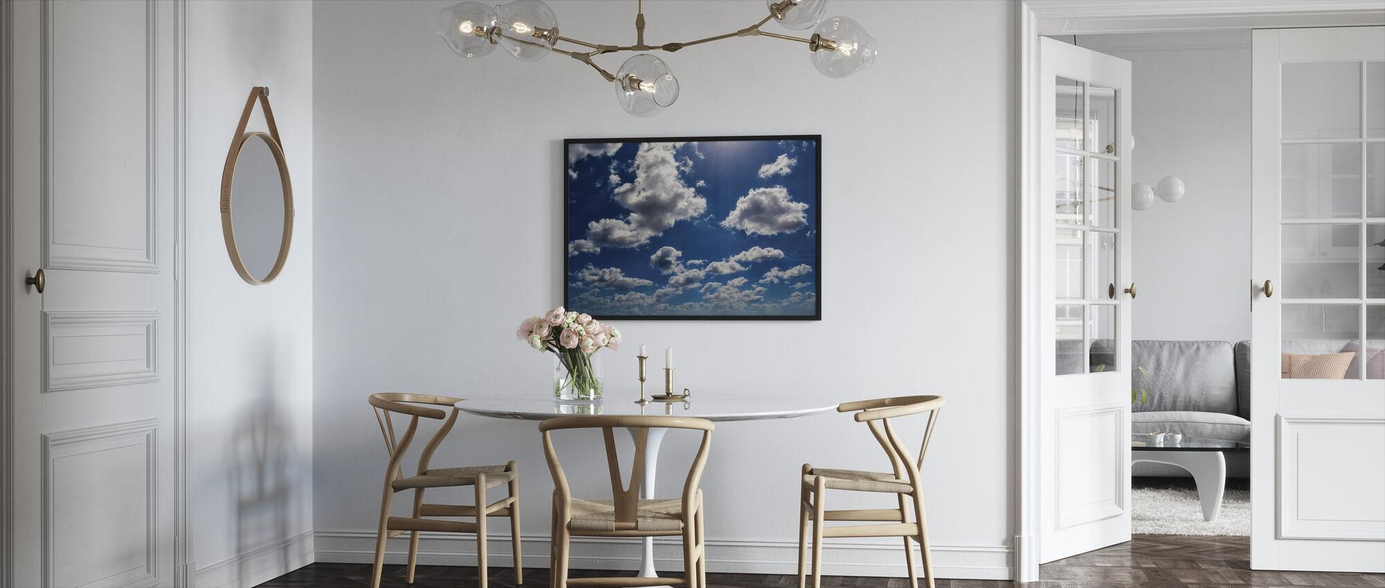 Blue Sky Clouds - Framed print - Kitchen