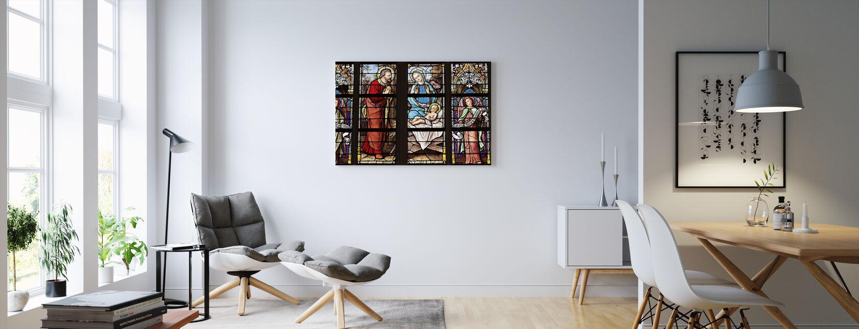 Kirke Vindue - Billede på lærred - Stue