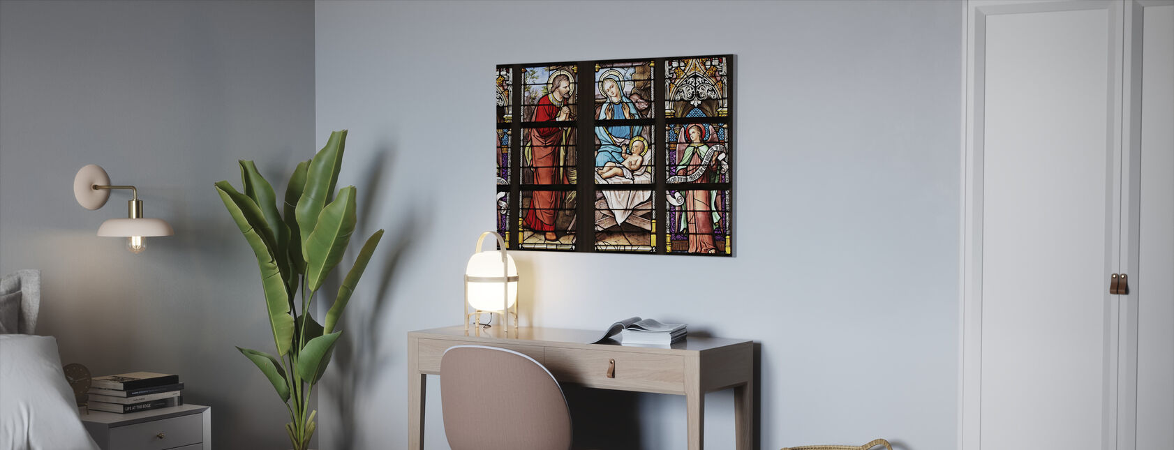 Church Window - Canvas print - Office