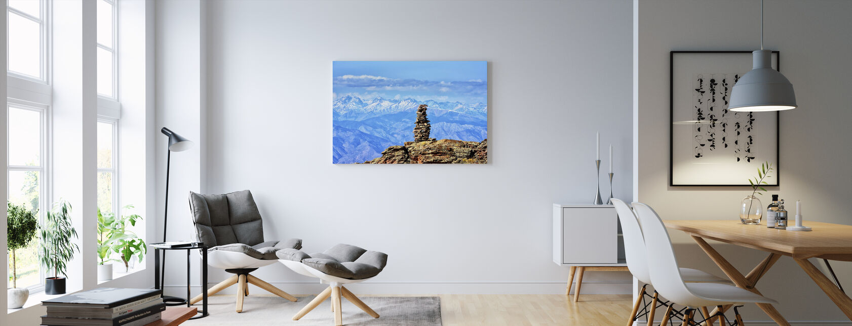 Vuoren ylämailla - Canvastaulu - Olohuone