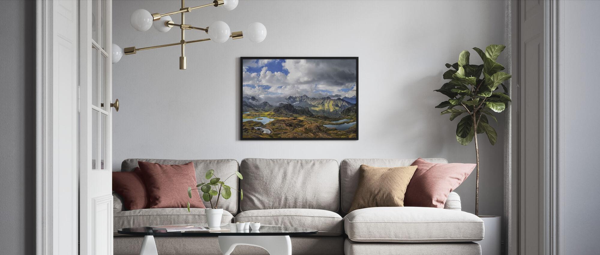 Snow Lake Highlands - Framed print - Living Room